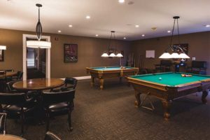 The Towne House Retirement Community senior game room