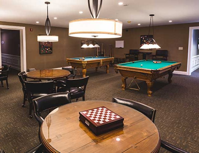 The Towne House Retirement Community Game Room