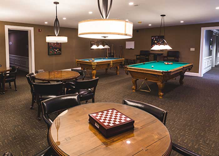 Recreation room at The Towne House