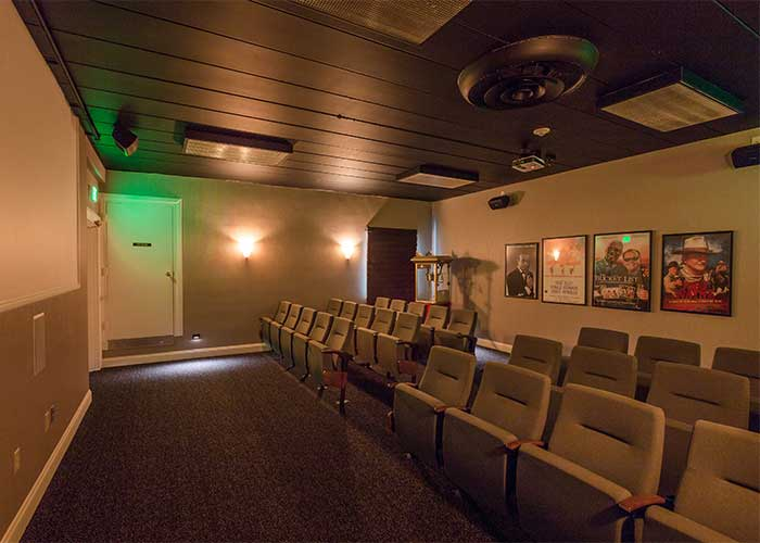 Private movie theater at The Towne House