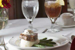 Steak & asparagus dinner at the Towne House
