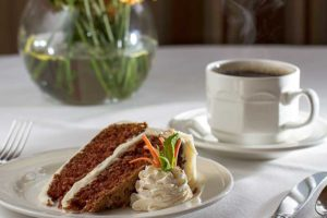 Carrot cake at the Towne House