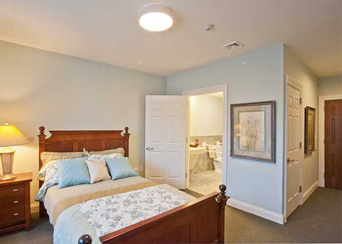 The Towne House Retirement Community senior bedroom