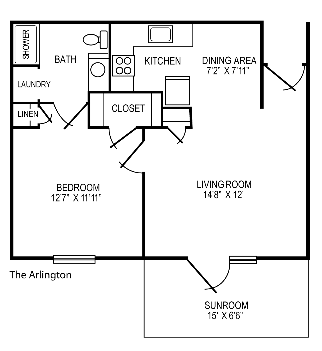 The Arlington 1 br Apartment