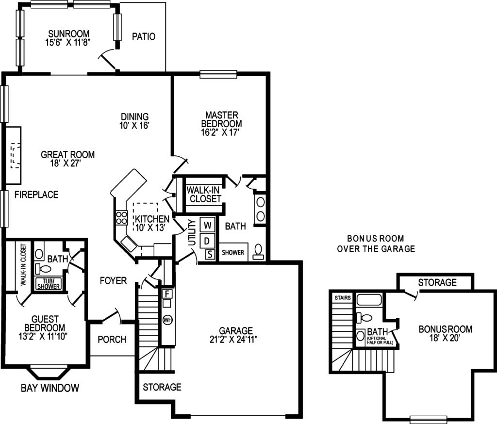 Chapman Crossing Villa Home - Jonathon Floor Plan