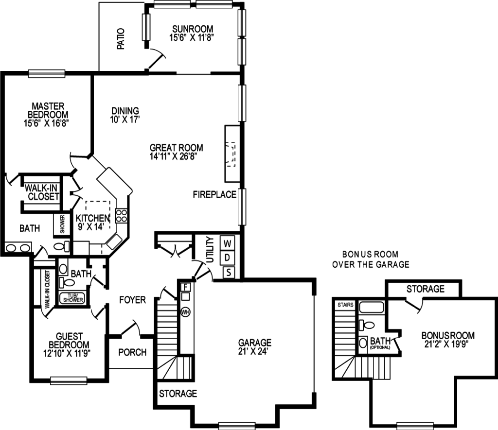 Chapman Crossing Villa Home - Macintosh Floor Plan